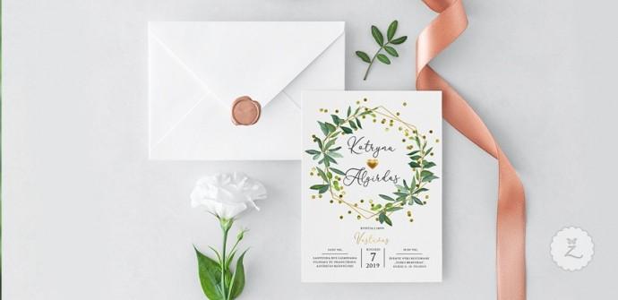 Vestuvių kvietimų maketai