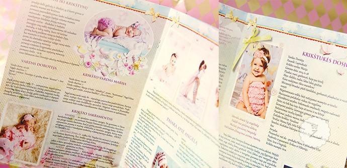 Krikštynų laikraštukas: viršelis, vidiniai lapai