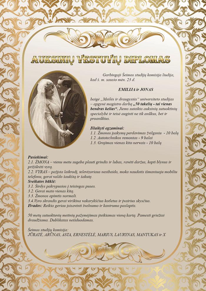 Auksines vestuves metai