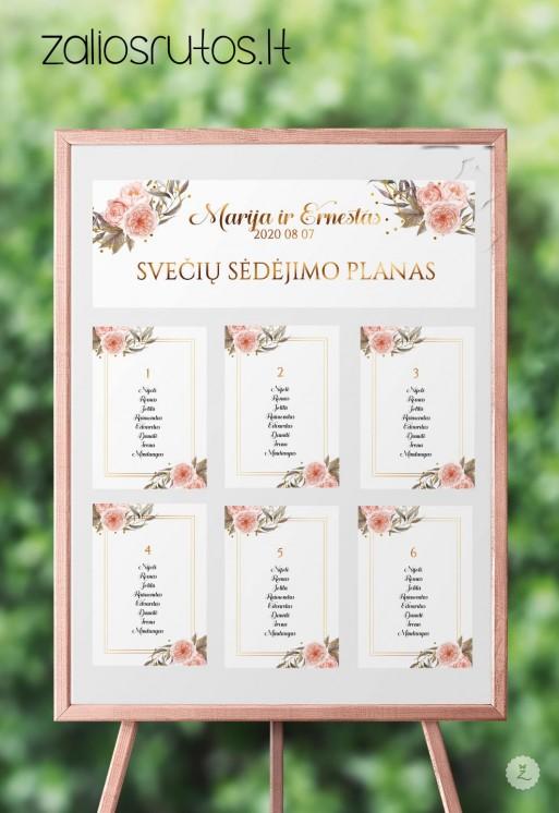 sėdėjimo planas vestuvių dekoras
